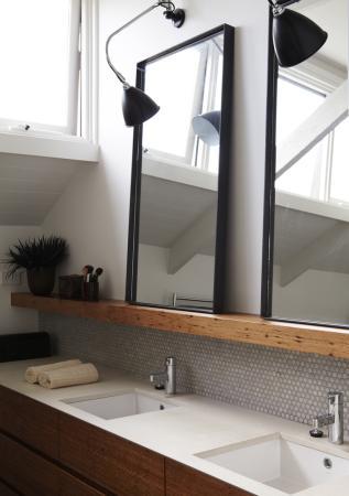 miroir salle de bain industriel. Black Bedroom Furniture Sets. Home Design Ideas