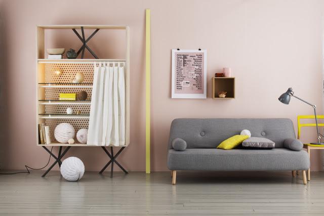 Le rose p le mariekke - Salon gris jaune ...
