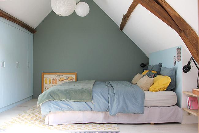 Des murs de couleur dans une chambre - Mariekke