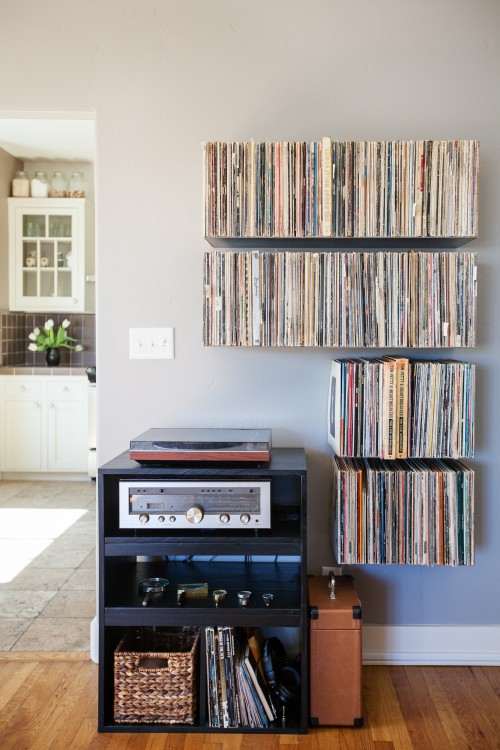 étagères vinyles