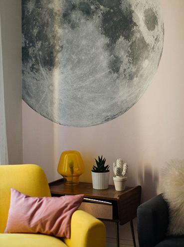papier peint lune