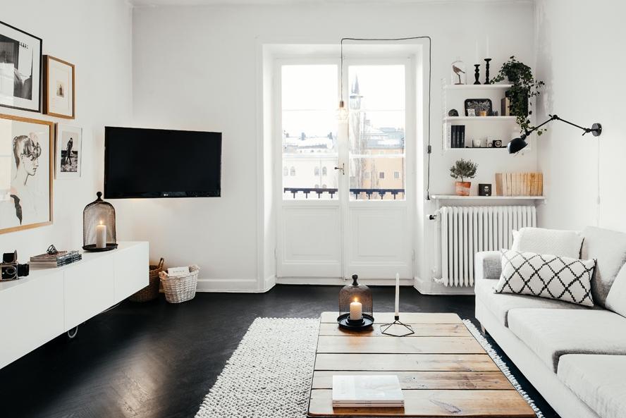 Une d co scandinave parfaite mariekke - Deco woonkamer aan de muur wit ...