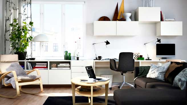 home office in living room ideas bureau dans le salon mariekke 25904