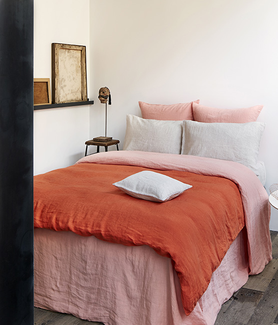 et si on m langeait orange et rose mariekke. Black Bedroom Furniture Sets. Home Design Ideas