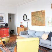 Notre nouveau salon : décoration scandinave et vintage