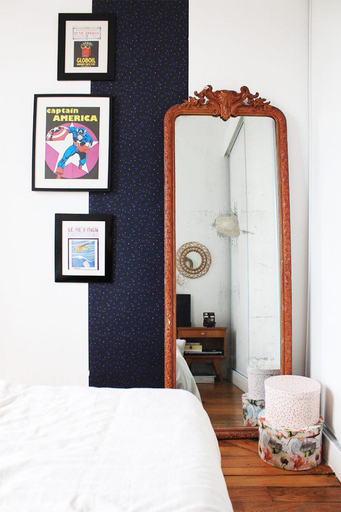 du papier-peint dans la chambre