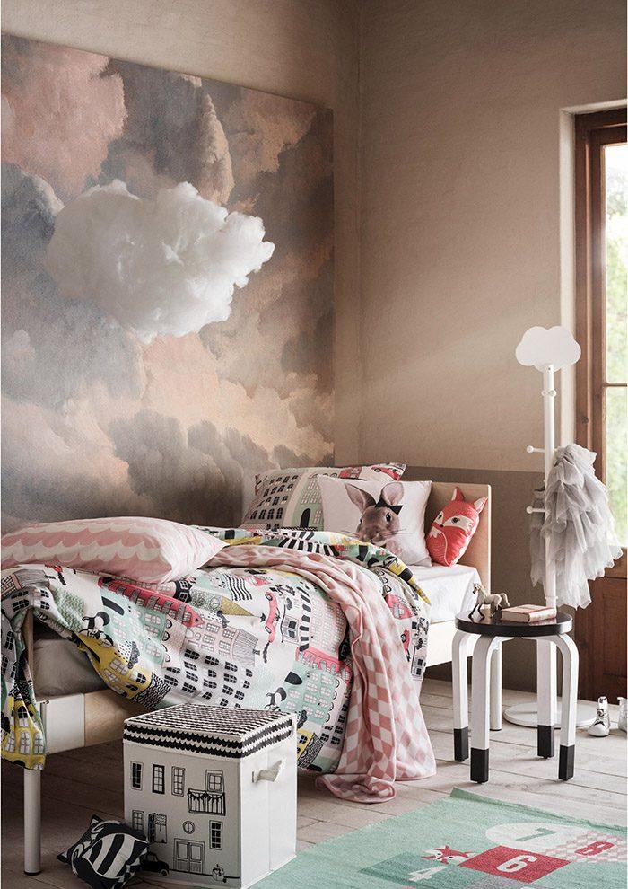 ambiance-chambre-enfant_rose_nuage_H&M_mariekke