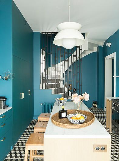 Pi haut les couleurs en cuisine mariekke Decoracion paredes cocinas modernas
