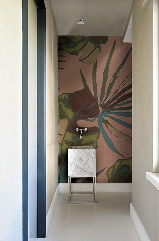 Et si on installait le papier peint dans la salle de bains for Deco sdb 2016