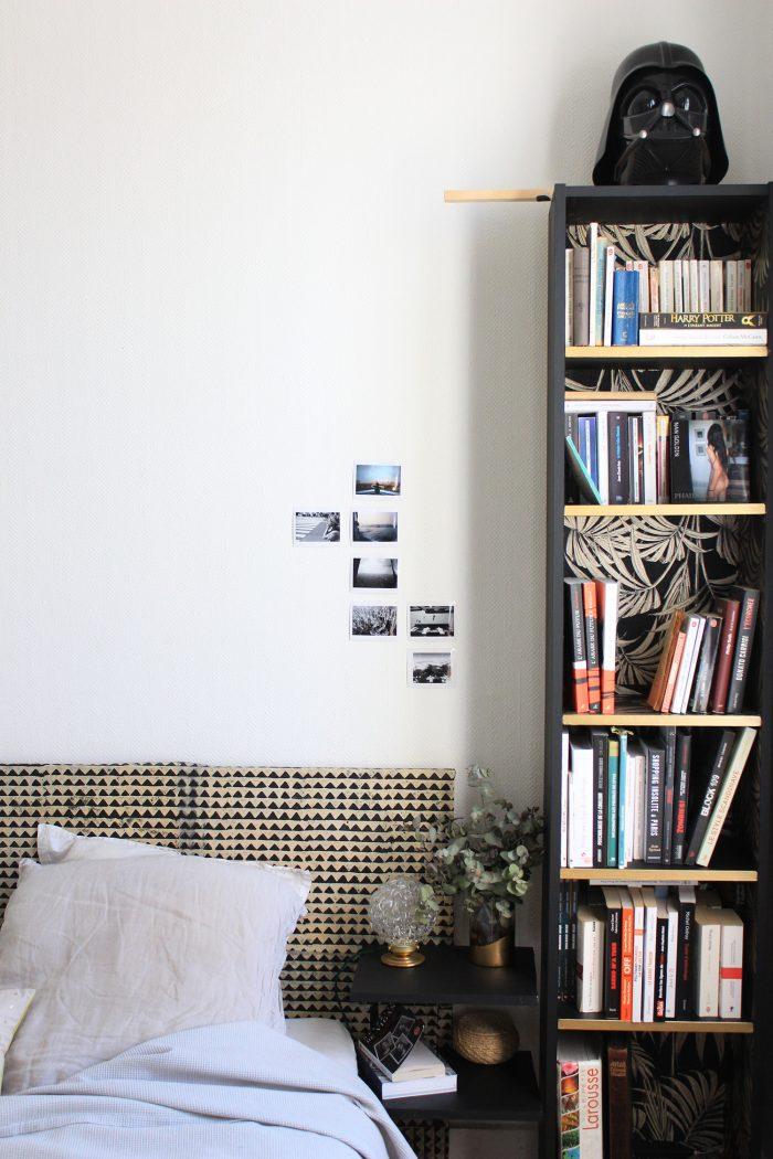 finalement cette de bibliothque et plus largement de la chambre elle tait simple comme bonjour. Black Bedroom Furniture Sets. Home Design Ideas