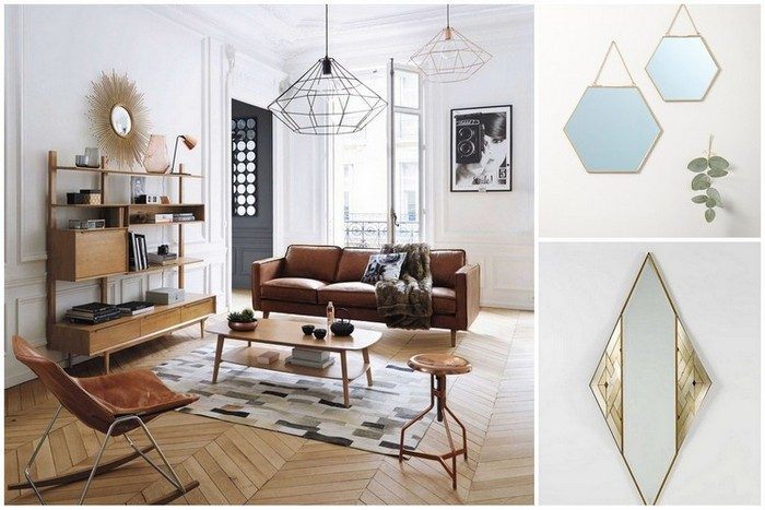 miroir laiton ou miroir dor o les trouver mariekke. Black Bedroom Furniture Sets. Home Design Ideas